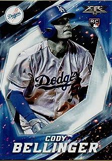 2017 Topps Fire Baseball #121 Cody Bellinger Rookie Card