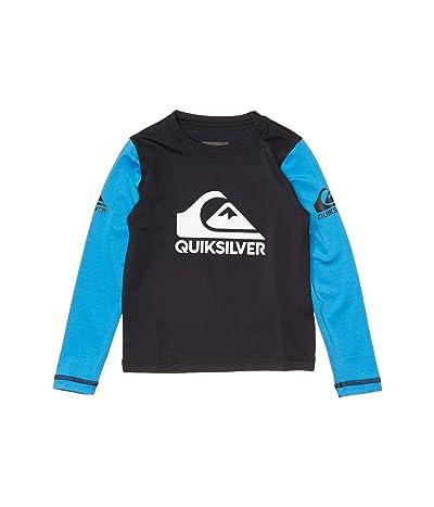Quiksilver Kids Heats On Long Sleeve (Toddler/Little Kids) (Black) Boy