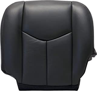 ECOTRIC New Leather Driver Bottom Seat Cover Dark-Gray for 2003-2006 Chevy Silverado 1500 2500