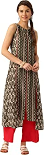 Desi Fusion Women's Straight Fit Cotton Kurta