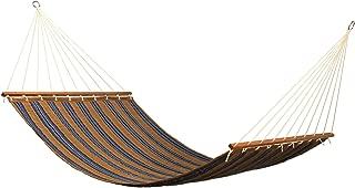 East Coast Hammocks Q8303 Large 2 Person Sunbrella Quilted Hammock - Stark Rivera Stripe