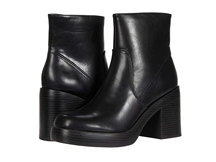 60s Shoes, Go Go Boots Dirty Laundry Groovy Black Smooth Womens Shoes $69.95 AT vintagedancer.com