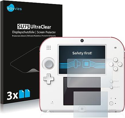 Savvies Film Protection d'écran Compatible avec Nintendo 2DS [6 Pièces] - Ultra Clair