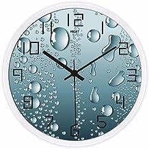 Horloge fantaisie fondue couleur argent.
