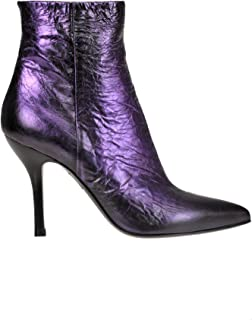 STRATEGIA Women's MCGLCAS000006069I Purple Leather Ankle Boots