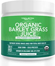Organic Barley Grass Juice Powder - Grown in Volcanic Soil of Utah - Raw & BioActive Form, Cold-Pressed the...
