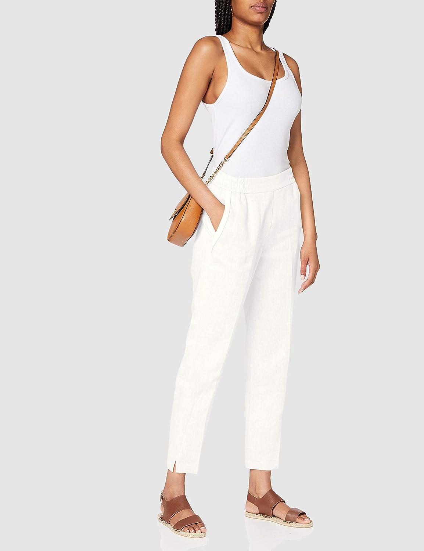 s.Oliver BLACK LABEL Pantalon d'affaires décontracté Femme Blanc (0200 Blanc Doux)