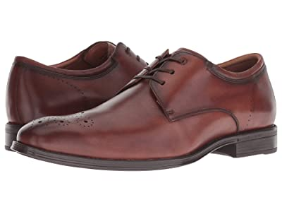 Florsheim Amelio Perforated Toe Oxford (Cognac Smooth) Men