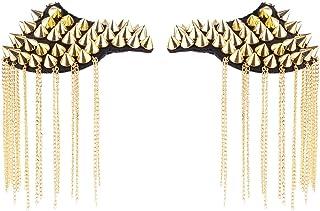 iEFiEL 18 Tipi Coppia Punk Rivetti Spalline Distintivo per Donne e Uomini Unisex Accessori di Giacca con Frange Nappa Spil...