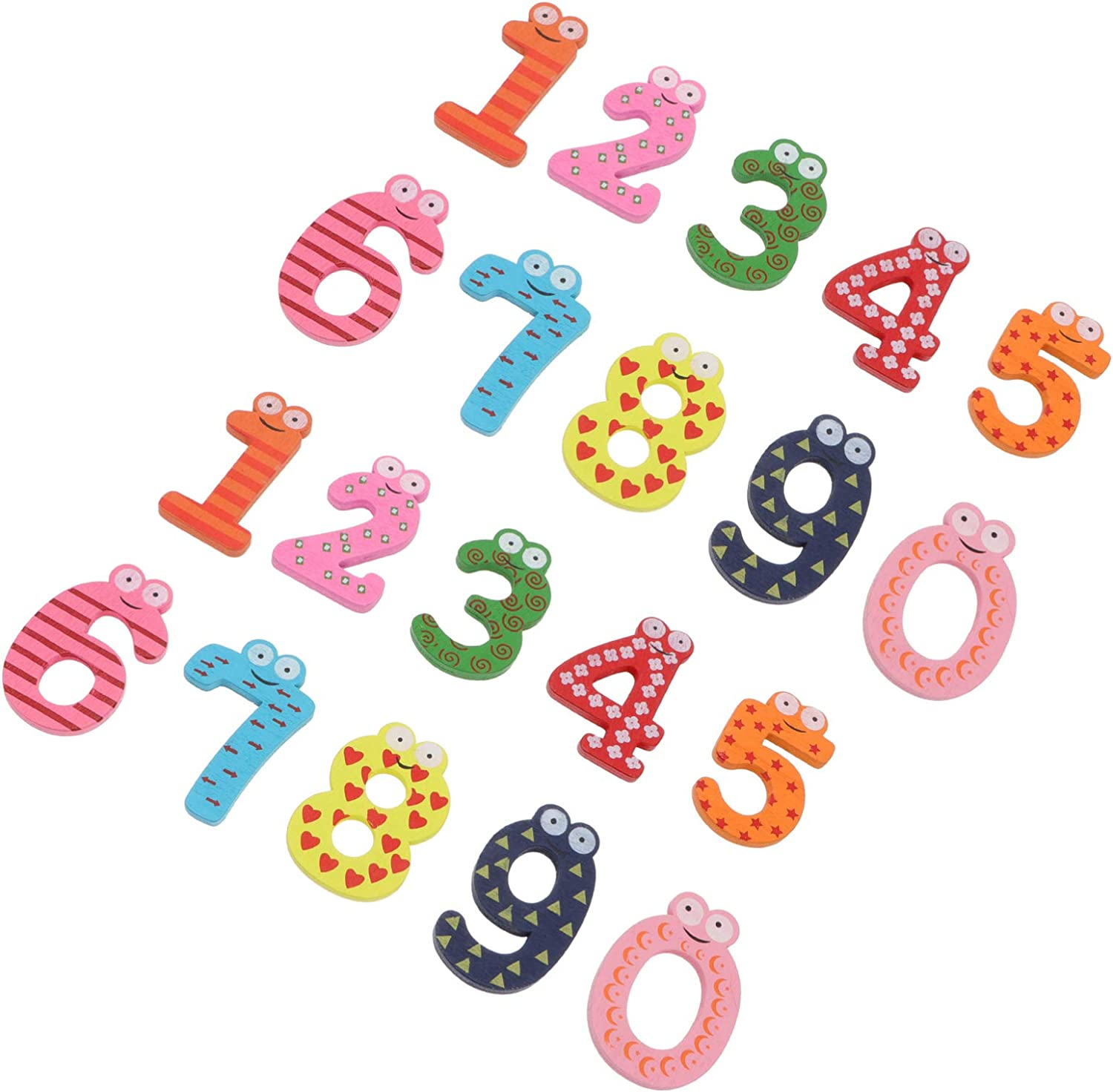 Toyvian 20pcs Fridge Magnets Magnetic Dealing full price reduction Numb For Kids Numbers Max 45% OFF 1-10