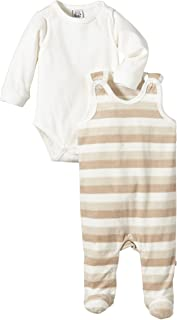Pippi Unisex - Baby Strampler Romper W/F-Striped W. Body Ls