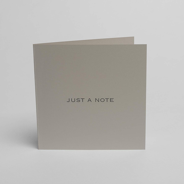 150 mm x 150 mm confezione da 5 Blake Indigo Just a Note Biglietti per appunti con buste grigio scuro