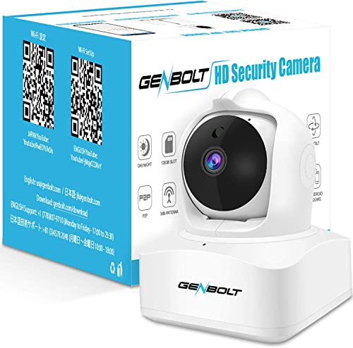 [Auto Tracking] 3MP WiFi IP Home Security Camera, GENBOLT Wireless Indoor Dog Baby Monitor Camera for Home Security S...