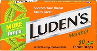 Luden's Menthol Throat Drops | Deliciously Soothing | 20 Drops | 1 Box