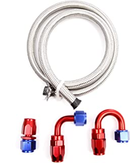 90 Degree Aramox AN6 Straight 45 90 180 Degree Push On Twist Lock Oil Gas Fuel Line Hose End Male Fitting