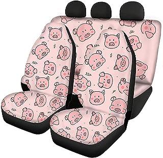 FUSURIRE Conjunto de 4 peças de capa protetora de assento para banco dianteiro de carro + capa protetora de assento de aut...