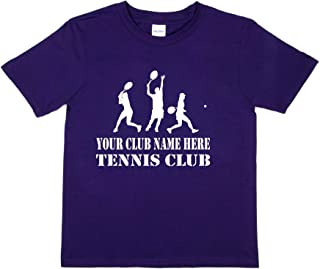 Print4u Personalised T-Shirt Your Club Name Here Tennis