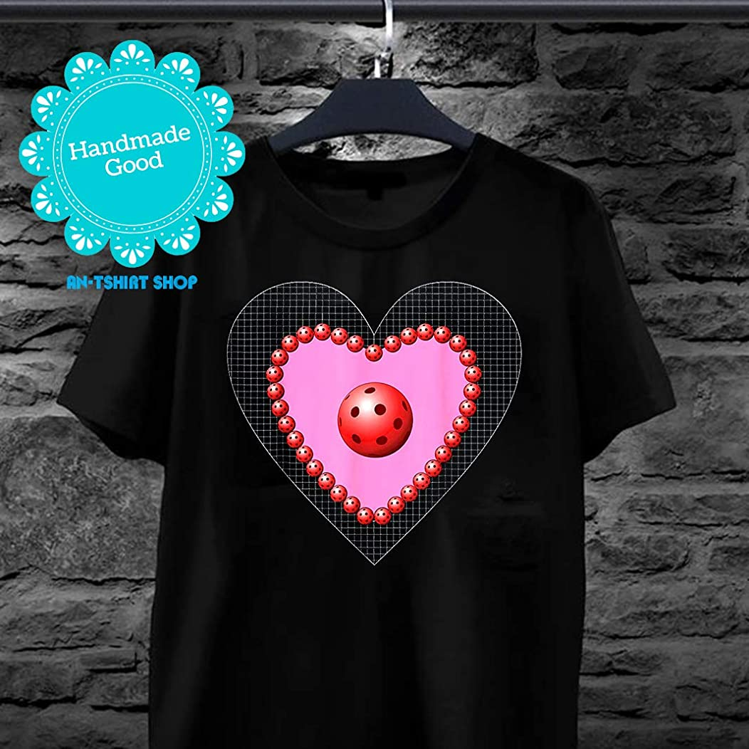 Valentine heart of Pickleball balls T-Shirt for men and women