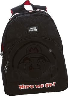 Mochila americana Black Super Mario