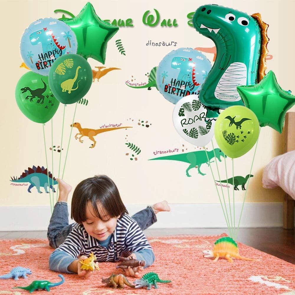 10Pcs Baby Dinosaur Balloons 1st Birthday Decorations Dinosaur Balloons for Kids/' Birthday Party Supplies,Baby Shower Birthday Backdrop 1