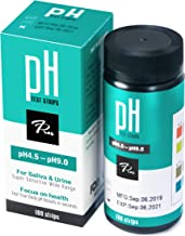 pH Test Strips for Urine & Saliva - Accurate Urinalysis Reagent Test Strips for Body pH Testing. Food and Diet pH Monitoring; Know Your Body Acidity and Alkalinity