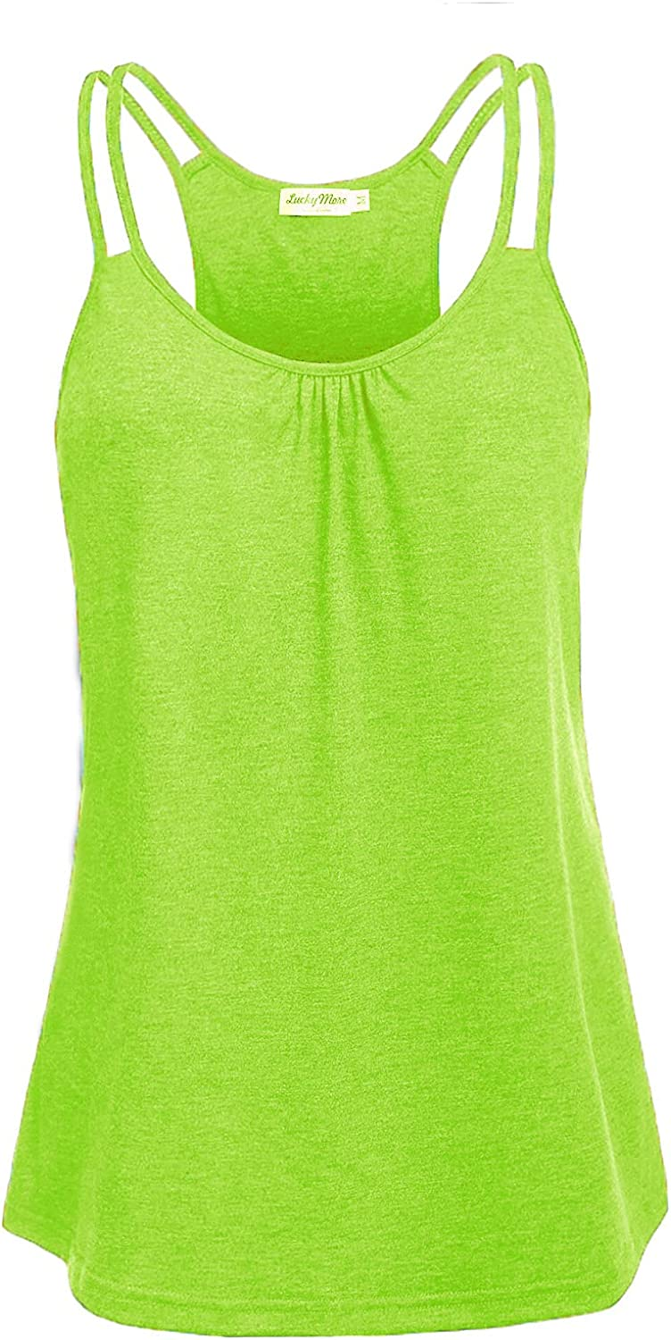 Women's Workout Tops Sleeveless Scoop Neck Loose Fit Yoga Shirts Racerback Athletic Running Tank Tops Gym Clothes: Clothing