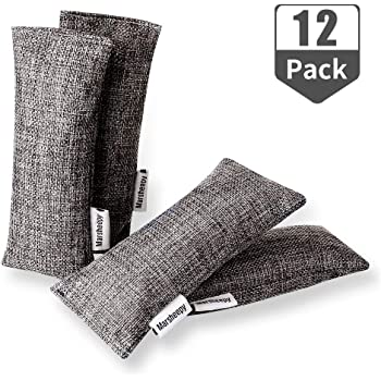 Marsheepy 12 Pack Bamboo Charcoal Bags and Charcoal Odor Absorber, Shoe Deodorizer and Odor Eliminator
