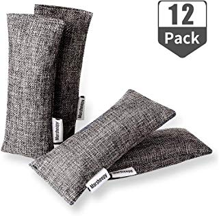 Marsheepy 12 Pack Natural Air Purifying Bamboo Charcoal Bags and Odor Remover, Shoe Deodorizer and Odor Eliminator