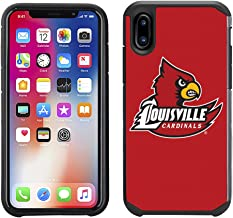 Prime Brands Group Textured Team Color Cell Phone Case for Apple iPhone X - NCAA Licensed University of Louisville Cardinals
