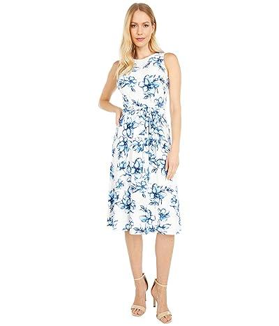 LAUREN Ralph Lauren Felia Sleeveless Day Dress (Colonial Cream/White/Multi) Women