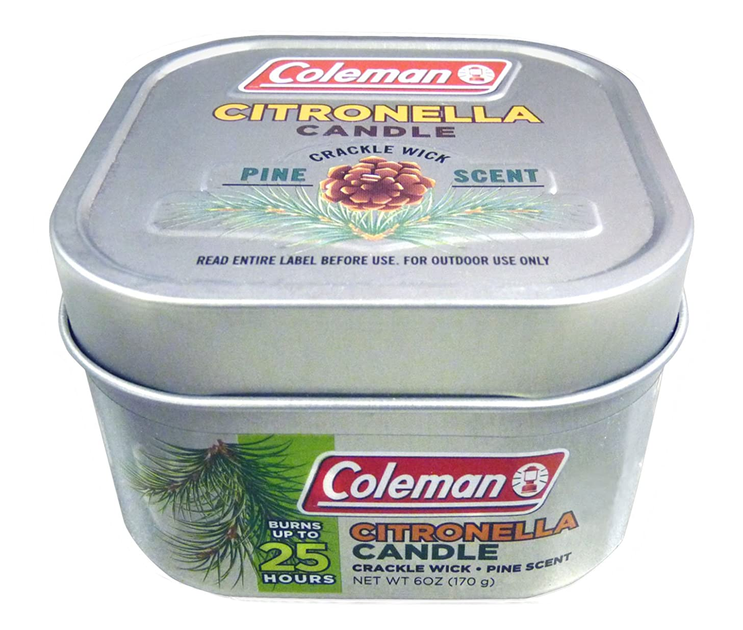 Coleman Scented Citronella Candle with Wooden Crackle Wick ivwwrtmih