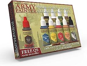 مجموعه رنگ مینیاتور، 10 مدل رنگ با براش براق FREE، 18ml / Bottle، کیت نقاشی مینیاتوری، مجموعه رنگ رنگ اکریلیک غیر رنگی، Wargames Hobby Starter Paint توسط Paint Army (نسخه جدید)
