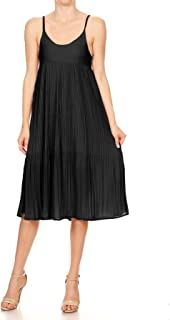 Women's V Neck Cocktail Dress Spaghetti Straps Sexy Backless Casual Swing Midi Party Dresses