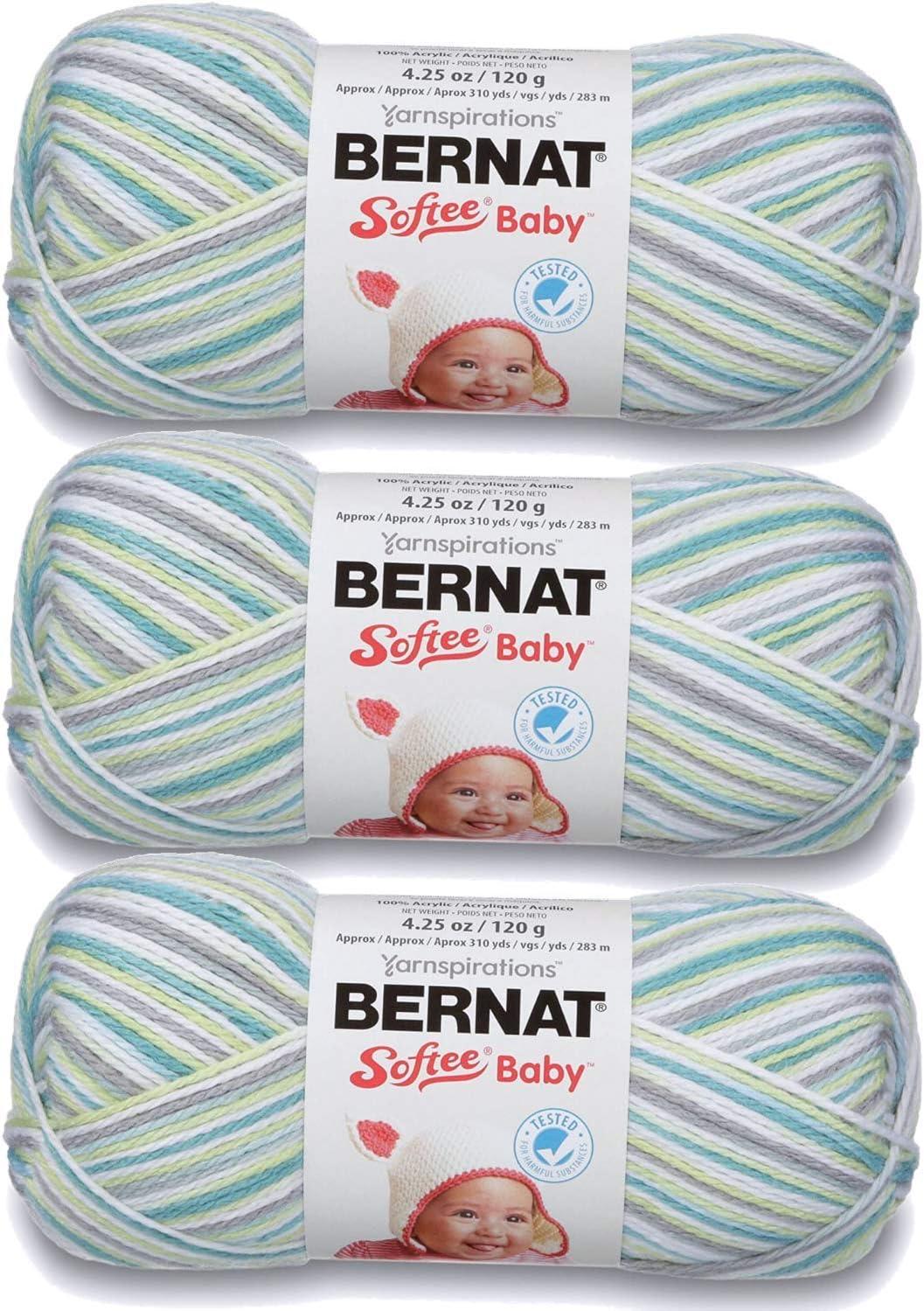Bernat Softee Baby Yarn Ombres (3-Pack) Prince Pebbles 166031-31201