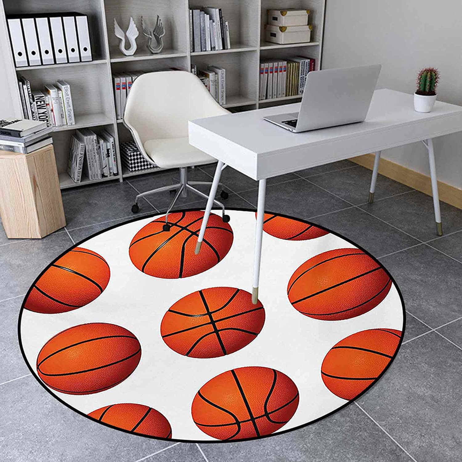 Area Rug wholesale Round 4.6' Non-Slip Outlet SALE Di Room Living Mat for