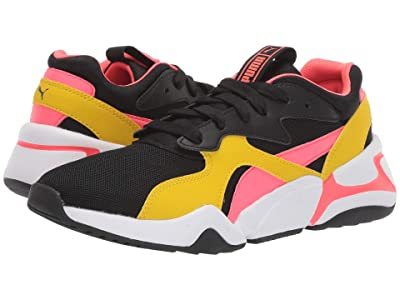 Puma Kids Nova Funky (Big Kid) (PUMA Black/Sulphur) Girls Shoes