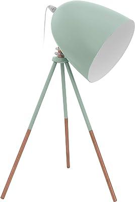 Eglo Ila1292514 Lampe à Poser, Métal, Bleu/Cuivre