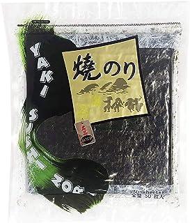 Full Size Sheet 140g Professional, Restaurant, Gold Premium Quality Yaki Sushi Snacks Nori Roasted Seaweed Rolls n Wraps Laver 140 Gram - 4.94 Ounce - Resealable Bag (Full Size 50 Sheet) / 김, のり, 海苔,