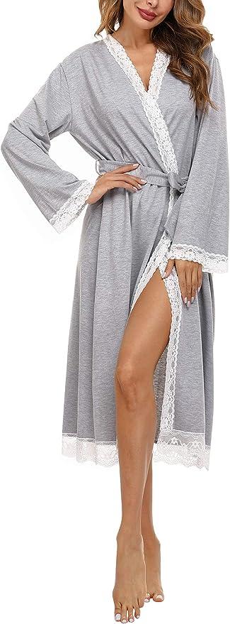 340 opinioni per Doaraha Camicia da Notte Donna Vestaglia Cotone con Cerniera Pigiama Lungo Sexy