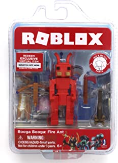Roblox Booga Booga: Fire Ant Single Figure Core Pack with Exclusive Virtual Item Code