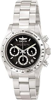 ساعة يد سبيدواي للجنسين من انفيكتا 9223، من الستانلس ستيل، وحركة كوارتز، ومينا ساعة اسود
