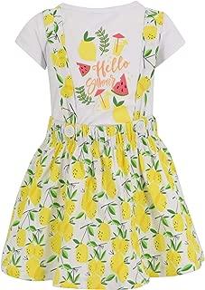 Girls Hello Summer Lemon Print 2 Piece Dress Set