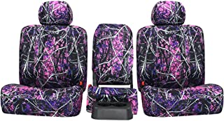 Third Row SEAT: ShearComfort Custom Moonshine Muddy Girl Seat Covers for Chevy Tahoe (2000-2006) in Camo Solid for 3 Passenger Bench w/Adjustable Headrests and Seatbelts in Backrest