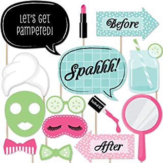 Big Dot of Happiness Spa Day - Photo Booth Props Kit - 20 Count
