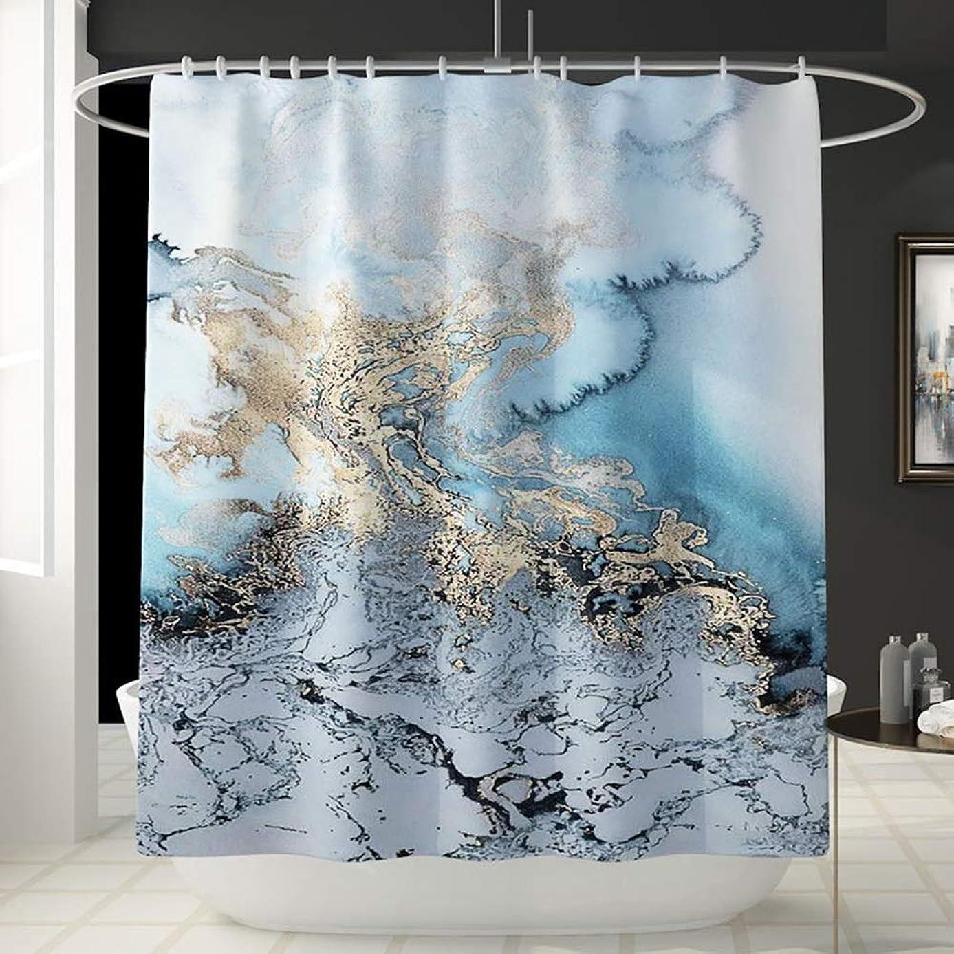 コマース辛いコスチューム大理石柄楽しいシャワーカーテン風呂アカウントバスルーム防水カーテンバスタブシャワーカーテンは色褪せない汎用性の高い快適な180センチ* 180センチ洗濯機 フェンコー