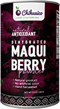 Dehydrated Maqui Berry Powder by Chihuaico - Hand Harvested From Chilean Patagonia by Local Women Farmers - Natural Antiox...