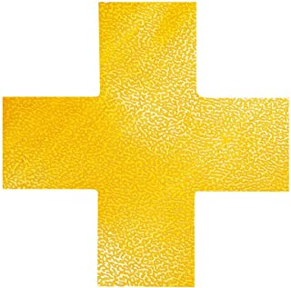 Durable 170104 Cross Placement Marking Marking in Cross Shape, Self-Adhesive and Abrasion Resistant, Pack of 10, RAL 1003 Signal Yellow