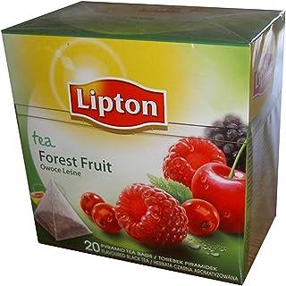 Lipton Té Negro - Frutas del Bosque - Bolsitas de Té en Forma de Pirámide (20 Bolsitas)