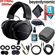 Beyerdynamic DT 1770 Pro 250 Ohm Closed-Back Studio Reference Headphones with Hard Case, Splitter, Cleaning Solution, and 1-Year Extended Warranty