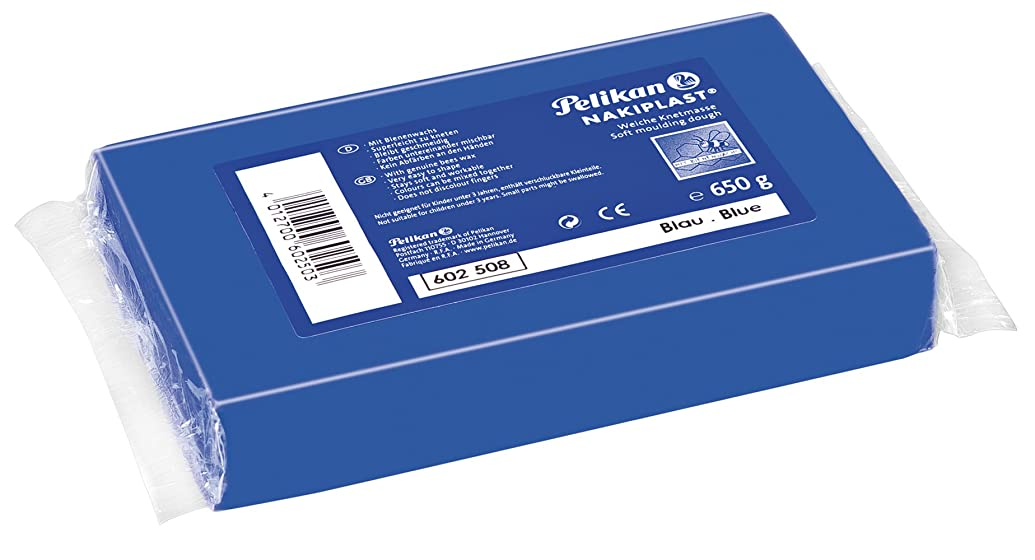 Pelikan Nakiplast 30 681 602508 Soft Modelling Dough 650 g Block Blue